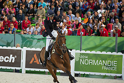 Zara Philips, (GBR), High Kingdom - Eventing jumping - Alltech FEI World Equestrian Games™ 2014 - Normandy, France.<br /> © Hippo Foto Team - Dirk Caremans<br /> 31/08/14