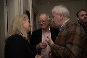 ANGIE O'ROURKE; ALAN BROOKE; JOHN WALSH, The launch of Fire Child by Sally Emerson. Hosted by Sally Emerson and Naim Attalah CBE. Dean St. London. 22 March 2017