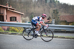 Carmen Small (Cervélo-Bigla Cycling Team) approaches a steep section of the third, short lap of the Trofeo Alfredo Binda - a 123.3km road race from Gavirate to Cittiglio on March 20, 2016 in Varese, Italy.