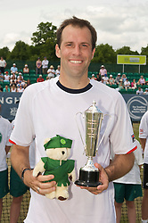 NOTTINGHAM, ENGLAND - Sunday, June 14, 2009: Greg Rusedski (GBR) with the runners-up Legends' Trophy on finals day of the Tradition Nottingham Masters tennis event at the Nottingham Tennis Centre. (Pic by David Rawcliffe/Propaganda)