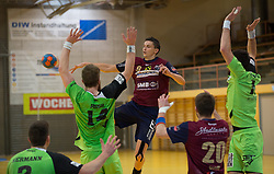 09.12.2014, Sporthalle, Leoben, AUT, OeHB-Cup Achtelfinale, Union JURI Leoben vs SG INSIGNIS Handball West Wien, im Bild v.l.: Alexander Hermann (West Wien), Fabian Posch (West Wien), Sasa Barisic Jaman (Leoben), Stephan Jandl (Leoben), Markus Wagesreiter (West Wien) // durning the OeHB-Cup, Round of the last sixteen, between, Union JURI Leoben vs SG INSIGNIS Handball West Wien at the Sport Hall, Leoben, Austria on 2014/12/09, EXPA Pictures © 2014, PhotoCredit: EXPA/ Dominik Angerer