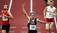 Friidrett, , 20. august  2010 , NM senior , hovedmesterskapet <br /> <br /> Bjørnar Ustad Kristensen , vinner 5000 m. til venstre: Sindre Buraas , Vidar