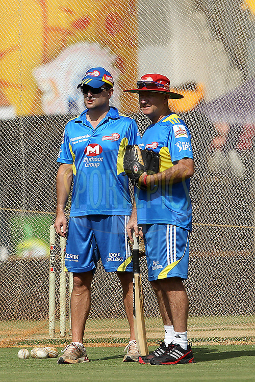 Greg Shipperd during the Delhi Daredevils practice session held at the MA Chidambaram Stadium in Chennai, Tamil Nadu, India on the 11th May 2011..Photo by Ron Gaunt/BCCI/SPORTZPICS