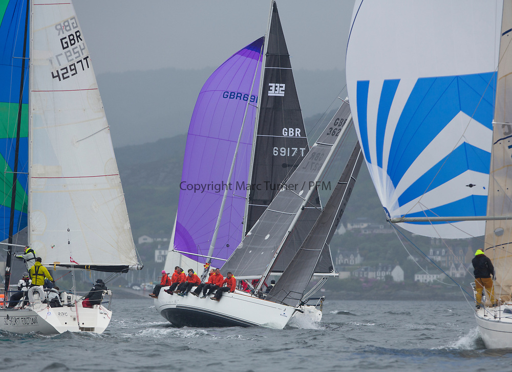Silvers Marine Scottish Series 2017<br /> Tarbert Loch Fyne - Sailing<br /> <br /> GBR3627L, Animal, Kevin Aitken, CCC/RNCYC, First 36.7<br /> <br /> Credit: Marc Turner / CCC