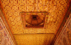 Ornamental roof in the Kasbah de Taourirt, Ouarzazate<br /> <br /> (c) Andrew Wilson | Edinburgh Elite media
