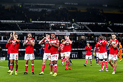 Bristol City applaud the fans at Derby County - Mandatory by-line: Robbie Stephenson/JMP - 22/12/2018 - FOOTBALL - Pride Park Stadium - Derby, England - Derby County v Bristol City - Sky Bet Championship