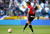 David CORTES, Spanish Football player and Majorca defender, with the ball. Real Madrid - Majorca / League 2005-06. Santiago Bernabeu Stadium, Madrid. 02-10-2005<br /> Mallorca