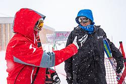11.02.2020, Zwölferkogel, Hinterglemm, AUT, FIS Weltcup Ski Alpin, Abfahrt, Herren, 1. Training, Absage, im Bild v.l. Andreas Puelacher (Sportlicher Leiter ÖSV Ski Alpin Herren), Markus Waldner Chief Race Director World Cup Ski Alpin Men of FIS // f.l. Andreas Puelacher Austrian Ski Association head Coach alpine Men's Markus Waldner Chief Race Director World Cup Ski Alpin Men of FIS after the cancellationof the 1st trainingsrun of Mens Downhill of FIS Ski Alpine World Cup at the Zwölferkogel in Hinterglemm, Austria on 2020/02/11. EXPA Pictures © 2020, PhotoCredit: EXPA/ Johann Groder
