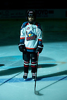 KELOWNA, BC - DECEMBER 18:  The Pepsi Player of the game stands on the ice at the Kelowna Rockets against the Vancouver Giants at Prospera Place on December 18, 2019 in Kelowna, Canada. (Photo by Marissa Baecker/Shoot the Breeze)