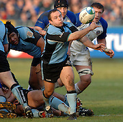 2005/06, Heineken Cup, Warriors scrum half XXX passes the ball from the back of the scrum. Bath Rugby vs Glasgow Warriors, The Rec, Bath, ENGLAND   © Peter Spurrier/Intersport Images - email images@intersport-images..   [Mandatory Credit, Peter Spurier/ Intersport Images].