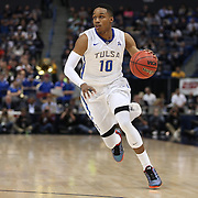 James Woodard, Tulsa, in action during the UConn Huskies Vs Tulsa Semi Final game at the American Athletic Conference Men's College Basketball Championships 2015 at the XL Center, Hartford, Connecticut, USA. 14th March 2015. Photo Tim Clayton