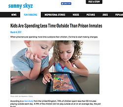 Sunny Skyz website; children using ipad