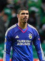 UEFA Europa League Group A soccer match between Celtic and Fenerbahce at Celtic Park in Glasgow, Scotland on 01 October  2015.<br /> Pictured: Goalkeeper Fabiano Ribeiro of Fenerbahce.