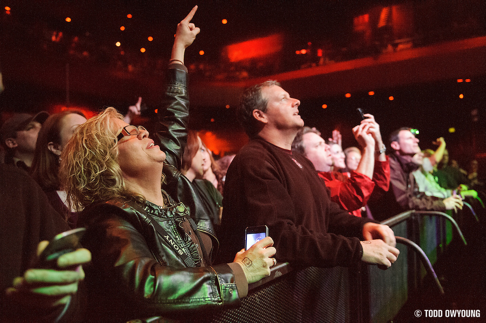 Fans during Big Head Todd & The Monsters' performance at the Pageant in St. Louis on February 4, 2012.