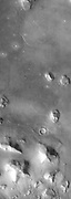 The so called 'Face on Mars' can be seen slightly above center and to the right in this THEMIS visible image.