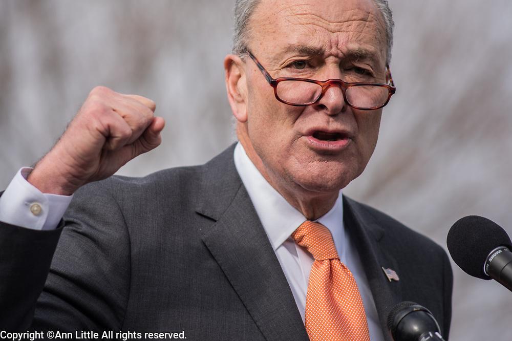Sen. Schumer speaks against the GOP tax plan on Capitol Hill 11.15.1027. (Photo: Ann Little)