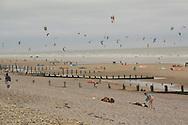 Kite flying on beach, Rye, 2009