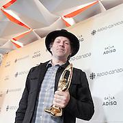 Fred Fortin : auteur - compositeur de l'année - Gala de l'ADISQ 2016, remise des trophées Felix aux gagnants -  Place des Arts / Montreal / Canada / 2016-10-30, © Photo Marc Gibert / adecom.ca