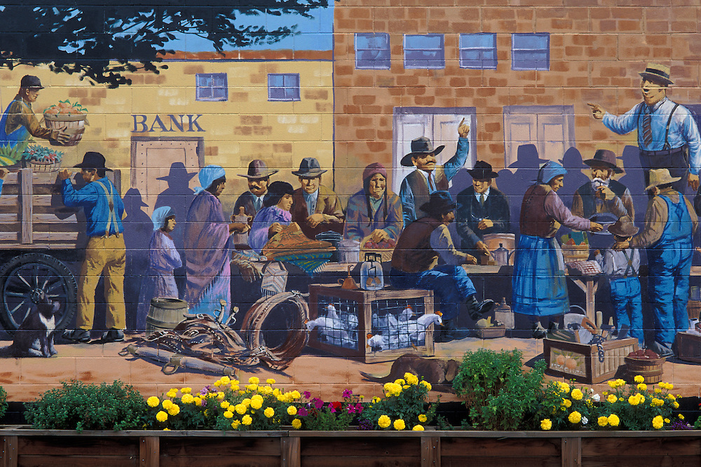 """The Old Saturday Market"" mural by artist Robert Thomas; Toppenish, Washington."