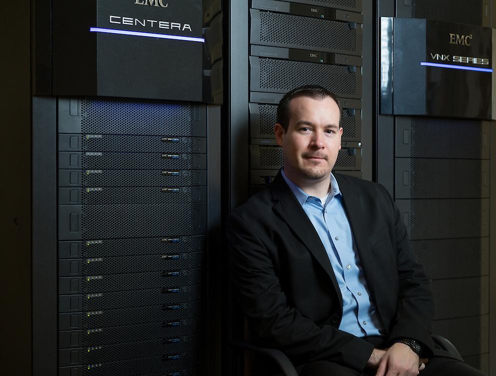 Hopkinton, MA 10/23/2015<br /> Joseph Derry, lead Data Scientist for Global Data Science Operations at EMC.<br /> Alex Jones / www.alexjonesphoto.com