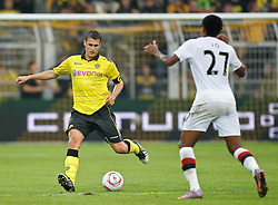 04.08.2010, Signal Iduna Park, Dortmund, GER, Freundschaftsspiel, Borrussia Dortmund vs Manchester City, im Bild:Sebastian Kehl (Dortmund GER #5) vs Jo Silva (Manchester City #27),  EXPA Pictures © 2010, PhotoCredit: EXPA/ nph/  Scholz *** Local Caption ***+++++ ATTENTION - OUT OF GER +++++ / SPORTIDA PHOTO AGENCY