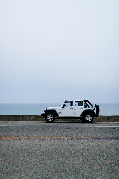 Jeep Wrangler on Pacific Coast Highway, California