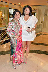 KIRAN SHARMA with her mother at the 6th annual Asian Awards held at The Grosvenor House Hotel, Park Lane, London on 8th April 2016.