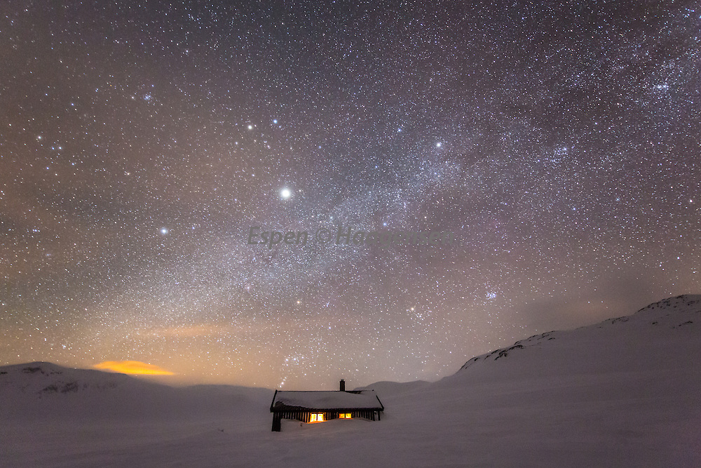 The milky way above the Grindaflet hut.