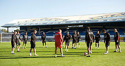 CARDIFF, WALES - Wednesday, October 8, 2008: Wales' Under-21 players during training at Ninian Park ahead of the UEFA European U21 Championship Play-Off match against England. (Photo by David Rawcliffe/Propaganda)
