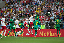 June 19, 2018 - Moscow, RUSSIA - Moscow, RUSSIA - Tuesday, June 19, 2018: Senegal beat Poland 2-1 at Spartak Stadium in Moscow. (Credit Image: © Celso Bayo/ISIPhotos via ZUMA Wire)