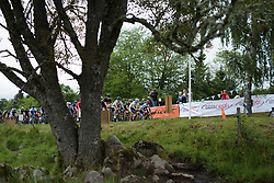 Race heads up the climb for the first of nine ascents at the Crescent Vargarda - a 152 km road race, starting and finishing in Vargarda on August 13, 2017, in Vastra Gotaland, Sweden. (Photo by Sean Robinson/Velofocus.com)
