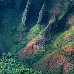 Na Pali Cliffs from Awa'awapui Trail, Kauai, Hawaii, US