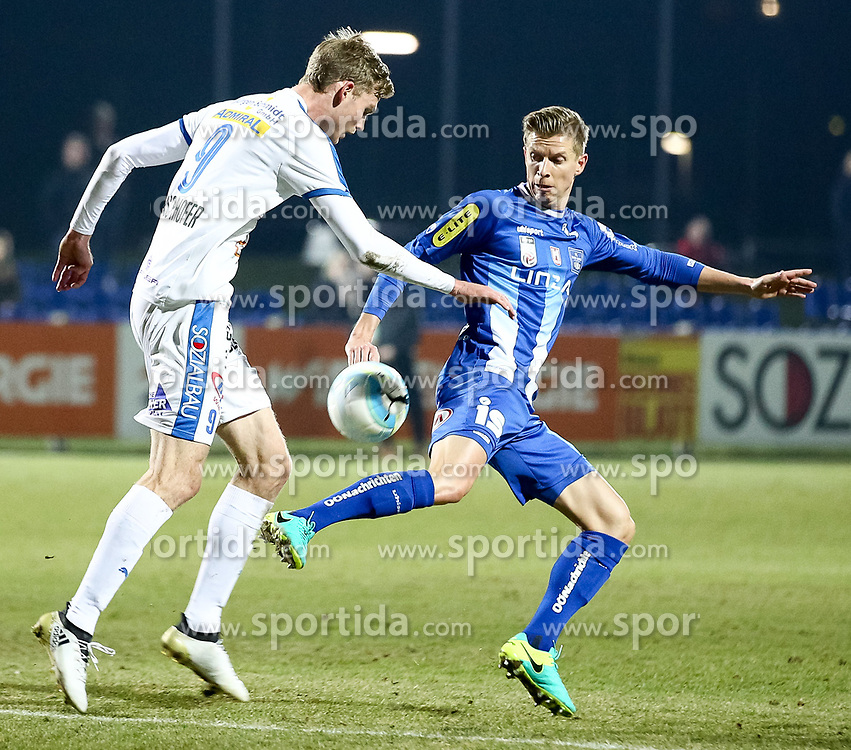 14.03.2017, FAC Platz, Wien, AUT, 2. FBL, FAC Wien vs FC Blau Weiß Linz, 24.Runde, im Bild Thomas Hirschhofer (FAC Wien), Thomas Hinum (FC Blau Weiss Linz) // during Austrian Football Second Bundesliga Match, 24th round Match between FAC Vienna and FC Blau Weiß Linz at the Sportplatz FAC, Vienna, Austria on 2017/03/14. EXPA Pictures © 2017, PhotoCredit: EXPA/ Alexander Forst