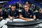 Andrea Solaini, Hugo Sconocchini<br /> Banco di Sardegna Dinamo Sassari - Happycasa Brindisi<br /> Quarti di finale<br /> LBA Legabasket Serie A Final 8 Coppa Italia 2019-2020<br /> Pesaro, 14/02/2020<br /> Foto L.Canu / Ciamillo-Castoria