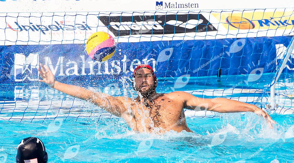 1 MERRILL Moses USA<br /> Hungary HUN (white) - United States USA (blue)<br /> day 04 - 26/06/2015<br /> FINA Water Polo World League Superfinal Men<br /> Bergamo (ITA) 23-28 June 2015<br /> Photo G.Scala/Deepbluemedia