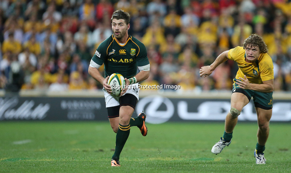 Rugby Championship - Australia v South Africa - 7 September 2013 - Sunscorp Stadium Brisbane<br /> South Africa's Willie Le Roux in action<br /> Photograph : Jason O'Brien / Photosport