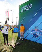 Jan 24, 2018; Kissimmee, FL, USA; A fan tests her skills during Pro Bowl week for the 2018 Pro Bowl at ESPN Wide World of Sports Complex. (Steve Jacobson/Image of Sport)