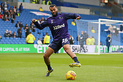 Derby County defender Ashley Cole (26)  warm up during the The FA Cup 5th round match between Brighton and Hove Albion and Derby County at the American Express Community Stadium, Brighton and Hove, England on 16 February 2019.