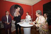 "Presentation of Salon 2008 magazine at Rudolf Budja Galerie. From l.: Thomas Manss (Art Director), Derek Weber (Editor-in-chief), Dr. Bodo Polzer, Countess Marianne of Sayn-Wittgenstein-Sayn (""Manni""), Elke Polzer."