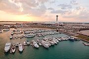Abu Dhabi aerial shot of marina and Marina Mall