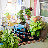 Flea Market porch makeover