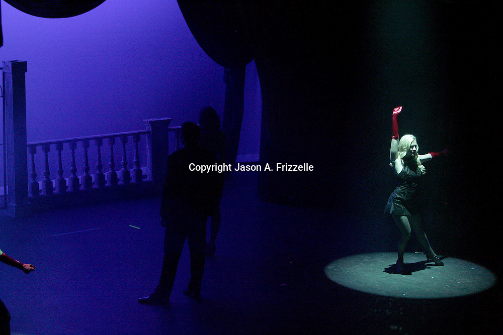 """Actors perform """"Razzle Dazzle"""" from the musical Chicago at the Wilmington Theater Awards at Thursday January 23, 2014 at Thalian Hall. (Jason A. Frizzelle)"""
