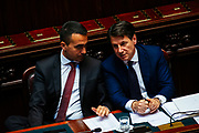 Luigi Dimaio and Giuseppe Conte. Confidence vote for the new government at the Italian Chamber of Deputies on June 6, 2018 in Rome, Italy. Christian Mantuano / OneShot