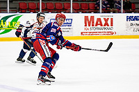 2019-10-13   Tyringe, Sweden: Tyringe SoSs (28) Simon Morberg during the game between Tyringe SoSs and Halmstad Hammers at Tyrs Hov (Photo by: Jonathan Persson   Swe Press Photo)<br /> <br /> Keywords: Tyrs Hov, Tyringe, Hockeyettan, Hockeyettansödra, Tyringe SoSs, Halmstad Hammers, (Match code th191013)