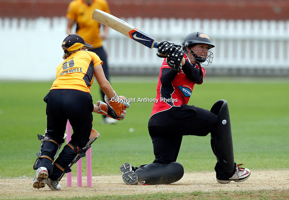 Canterbury Magicians Maria Fahey, Action Cricket Twenty20 Final, Blaze v Magicians. Basin Reserve, Wellington. Saturday 5 February 2011. Photo: Anthony Phelps/PHOTOSPORT
