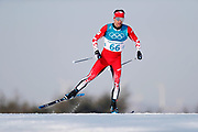 PYEONGCHANG-GUN, SOUTH KOREA - FEBRUARY 16: Alex Harvey of Canada during the mens Cross Country 15k free technique at Alpensia Cross-Country Centre on February 16, 2018 in Pyeongchang-gun, South Korea. Photo by Nils Petter Nilsson/Ombrello               ***BETALBILD***