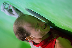 Cedric Lachat of Switzerland during Final IFSC World Cup Bouldering Competition in sport climbing Log Dragomer 2013, on May 12, 2013 in Sportni Park, Log pri Brezovici, Slovenia. (Photo By Matic Klansek Velej/ Sportida.com)