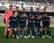 Los Angeles Football Club takes a team photo before a MLS soccer match in Los Angeles, Sunday, April 21, 2019.From left: Jordan Harvey (2), Steven Beitashour (3), Latif Blessing (7), Diego Rossi (9) and Carlos vela (10). Back row: Tyler Miller (1), Christian Ramirez (21), Eddie Segura (4), Mark-Anthony Kaye (14), Eduard Atuesta (20) and Walker Zimmerman (25). LAFC defeated the Sounders 4-1. (Ed Ruvalcaba/Image of Sport)