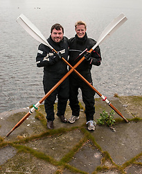 Leven Brown and Jamie Douglas-Hamilton plan to enter the record books by attempting to become the first ever crew to successfully row from Australasia to Africa. The two Scots are part of an eight man team which will attempt the crossing. Four men will be rowing at all times with two hours on and two hours off. 23 April 2014 (c) GER HARLEY | StockPix.eu