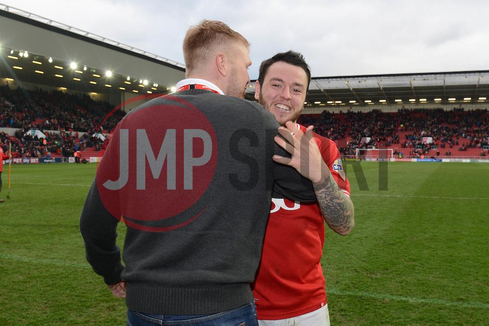 Lee Tomlin of Bristol City man of the match sponsor - Mandatory byline: Dougie Allward/JMP - 19/03/2016 - FOOTBALL - Ashton Gate - Bristol, England - Bristol City v Bolton Wanderers - Sky Bet Championship